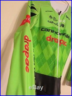 2017 POC Cannondale Drapac Pro Cycling Long Sleeve Aero TT Time Trial Skinsuit M