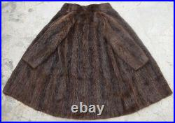 42 Long Mens Fur Coat Men Farmer Nutria Jacket Natural Vintage Beaver Chest 46