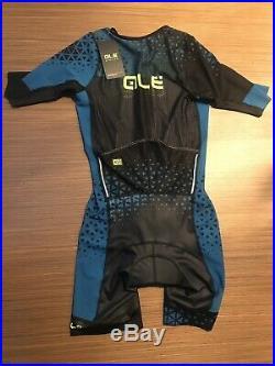 Ale Cycling SS Skinsut Triathlon Rush Long MensBlack/Ottanio BlueBRAND NEW