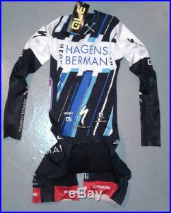Ale Team AxeonHagens Berman Neon Cycling Long Sleeve Suit Small Used