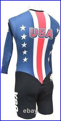 Assos Team USA Speedfire Long Sleeve Skinsuit Men MEDIUM Road Bike Race Olympic