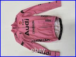 Audi Castelli Long Sleeve Thermal Jersey Pink, Small
