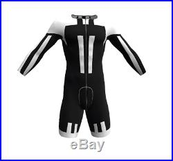 BW Aero Long Sleeve Cycling Road Skinsuit in Black / White With NO Logo by GSG