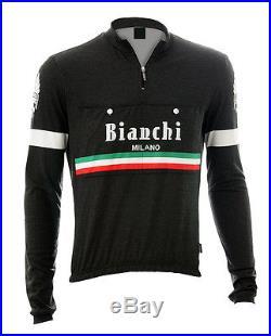 Bianchi Milano Hiten Wool Long Sleeve Jersey Black M