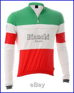 Bianchi Milano Hiten Wool Long Sleeve Jersey Tricolore L