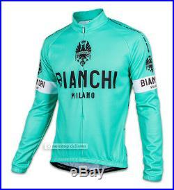Bianchi Milano LEGGENDA Lightweight Long Sleeve Cycling Jersey CLASSIC CELESTE