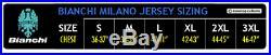 Bianchi Milano SORISOLE Long Sleeve Full Zip Cycling Jersey BLACK/CELESTE