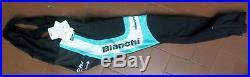 Bianchi REPARTO CORSE salopette lunga inverno bici celeste bike long bib short