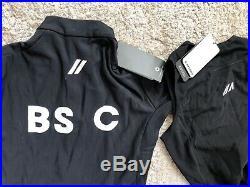 Black Sheep Elements Thermal Short Sleeve and Long WOB Thermal Bibs both Medium