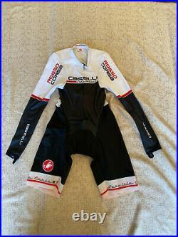 CASTELLI Cycling Long Sleeve Skinsuit BRAND NEW ROSSOCORSA ORIGINAL SIZE M
