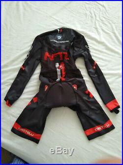 CASTELLI NTFO Skinsuit Speed Suit Long Sleeve Triathlon Time Trial BRAND NEW Med