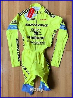 Capo Santa Cruz/Fox/Shimano Long Sleeve Skinsuit, Yellow, Size Medium, NEW
