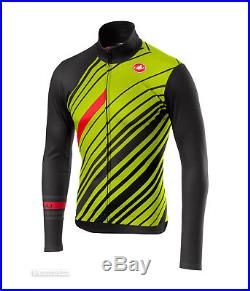 Castelli CIELO Winter Long Sleeve Cycling Jersey DARK GREY/YELLOW FLUO