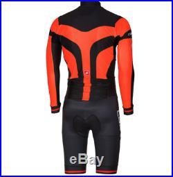 Castelli CX 2.0 Speedsuit Winter Cycling Long Sleeve Men's Large Orange New