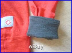Castelli Chpt. 3 Cycling Long Sleeve Wool Base Layer Rosso Fuoco Size 36 (S)