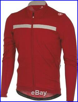 Castelli Costante Wool Men's Long Sleeve Cycling Jersey Ruby Red Size XL
