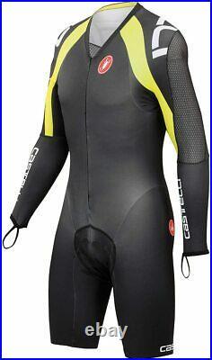 Castelli Men's Body Paint 3.0 Cycling Long-Sleeve Speed Suit Black (XXL)