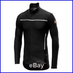 Castelli Men's Perfetto Long Sleeve Jersey XL Light Black MSRP $199.95