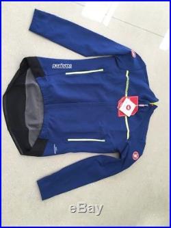 Castelli Perfetto Long Sleeve Cycling Jersey/Jacket Blue Size XL (Gabba)
