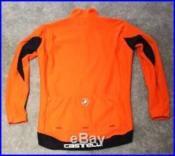 Castelli Perfetto Long Sleeve Men's Road / MTB Cycling Jacket XXL Orange
