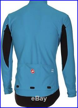 Castelli Perfetto Long Sleeve Team Sky Inside Blue Softshell Jacket Size M Gabba