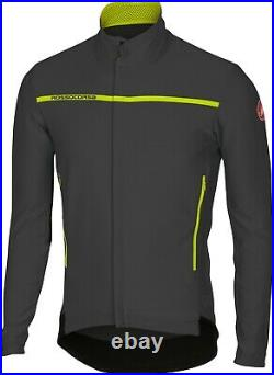 Castelli Perfetto Long Sleeve Windstopper Cycling Jacket Antracite Medium