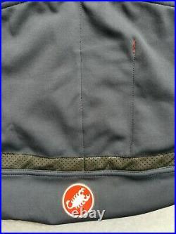 Castelli Perfetto ROS Long Sleeve Jersey Steel Blue / Orange 2XL