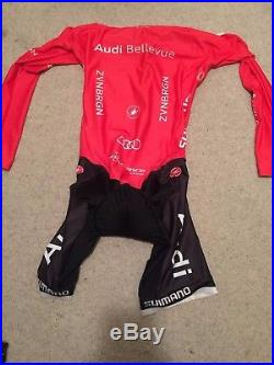 Castelli Team Audi Long Sleeve Skinsuit / Speedsuit, Size Large