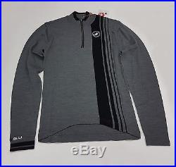 Castelli Winter Costante Mens Long Sleeve Cycling Wool Jersey Grey Size L
