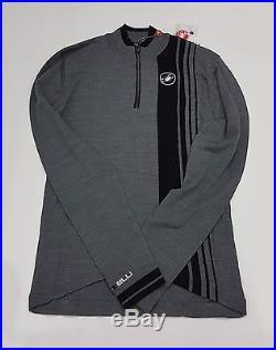 Castelli Winter Costante Mens Long Sleeve Cycling Wool Jersey Grey Size M