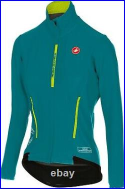 Castelli Women's Perfetto/Gabba Long Sleeve Cycling Jacket Green Size Small