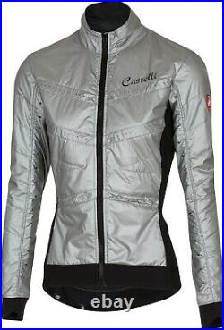 Castelli Women's Puffy 2 Long Sleeve Cycling Jacket Silver Size Small