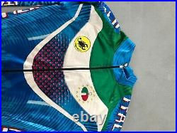 Castelli size L Italia mens Cycling suit singlet unisuit skinsuit Long Sleve l/s