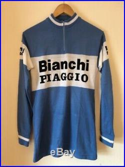 Classic Bianchi Piaggio Cycling Jersey, 1980s, Long Sleeve 1980s
