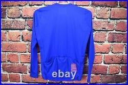 EUC! Rapha Pro Team Long Sleeve Aero Jersey XXL Blue Cycling Top