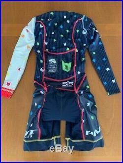 Eliel Men's Long Sleeve Aero Cycling Speedsuit EXTRA SMALL SHORT