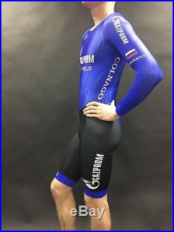 Gazprom Rusvelo Russian cycling team skinsuit (rear zip). Long sleave. New ed252d389