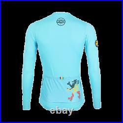 Genuine Le Col x Lion of Flanders Men's Pro Long Sleeve Jersey, Nation Blue L