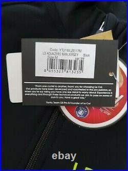 LE COL Pro Aqua Zero Man Jersey Cycling Jacket Size M Black Long Sleeve Rrp £145