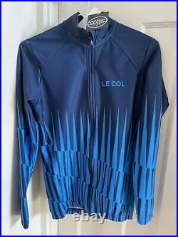 Le Col Womens Pro Aqua Zero Long Sleeve Jersey. Navy Ice Blue Pinacle, Size M