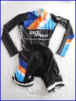 Lot 4 Castelli Cycling Race Skin Suit Long Short Sleeve Bib Shorts Padded Medium