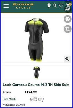 Louis garneau Long Course Triathlon Skin Suit / Speed Suit AERO