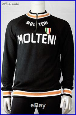 MOLTENI vintage wool long sleeve jersey, new, never worn M