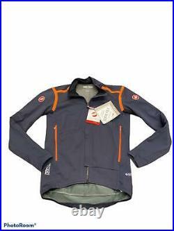 Men's Castelli Perfetto Ros Long Sleeve Jersey, Blue / Orange, XL