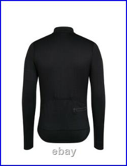 Mens Black Rapha Classic Long Sleeve Cycling Jersey Size Large