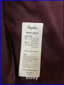 Mens Rapha Brevet Long Sleeve Jersey Size Small Burgundy