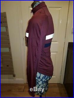 Mens Rapha Long Sleeve Brevet Jersey Size Medium BNWT Rich Burgundy