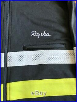 Mens Rapha Long Sleeve Brevet Jersey and Vest Size Large Green And Grey