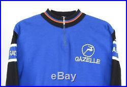 Mens Santini Vintage Gazelle Team Cycling Jersey Shirt Long Sleeve Size 7 / L
