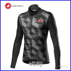 NEW 2021 Castelli CUBI Long Sleeve Cycling Jersey VORTEX GREY